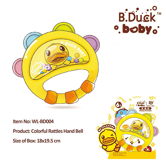 B.Duck - Colorful Rattles Hand Ball No.WL-BD004