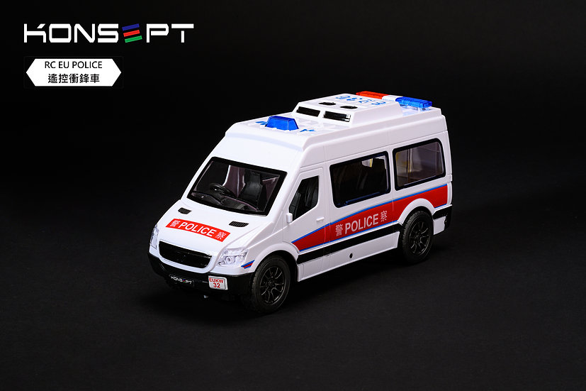 KONSEPT RC Hong Kong EU Police Car with 3D Puzzle No.K101