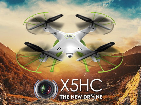 X5HC 2.4G 4 channel rc Quad-copter with gyro