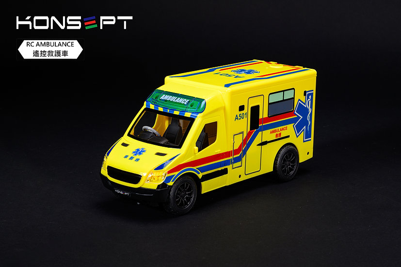 KONSEPT RC Hong Kong Ambulance (Yellow) with 3D Puzzle No.K301