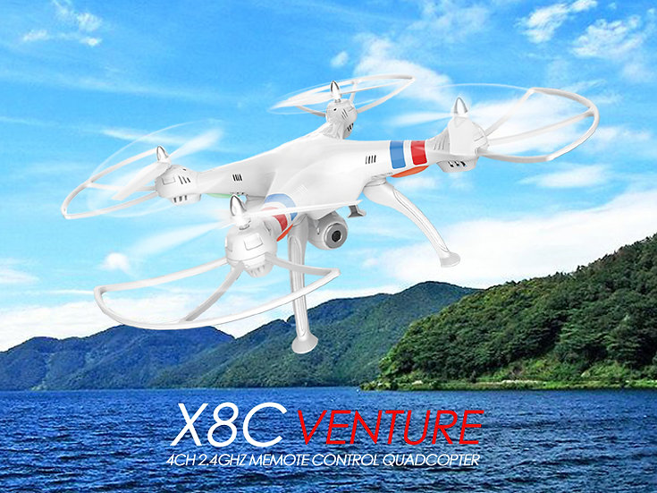 X8C 2.4G 4 channel rc Quad-copter with gyro