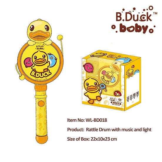 B.Duck - Rattle Drum with music and light No.WL-BD018