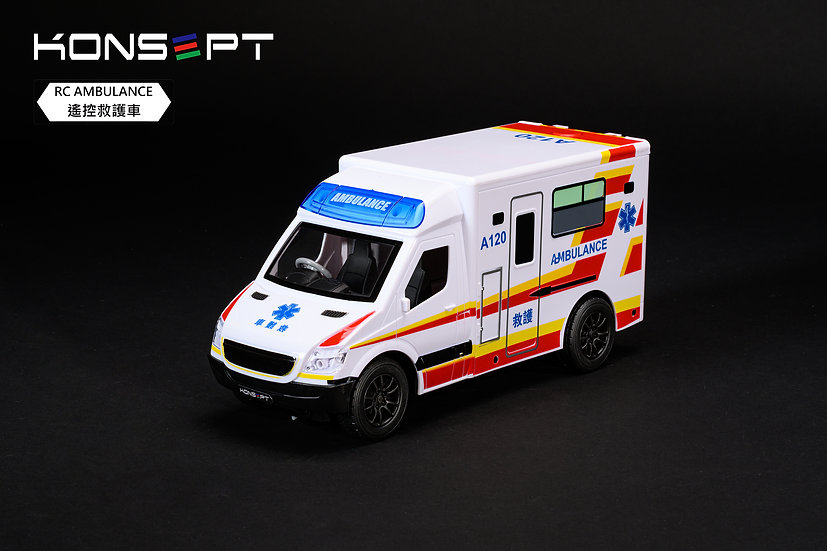 RC Hong Kong Ambulance (White) with 3D Puzzle No.K201