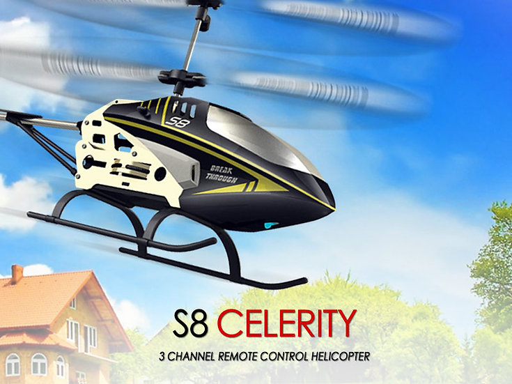 S8 IR 3 channel rc helicopter with gyro