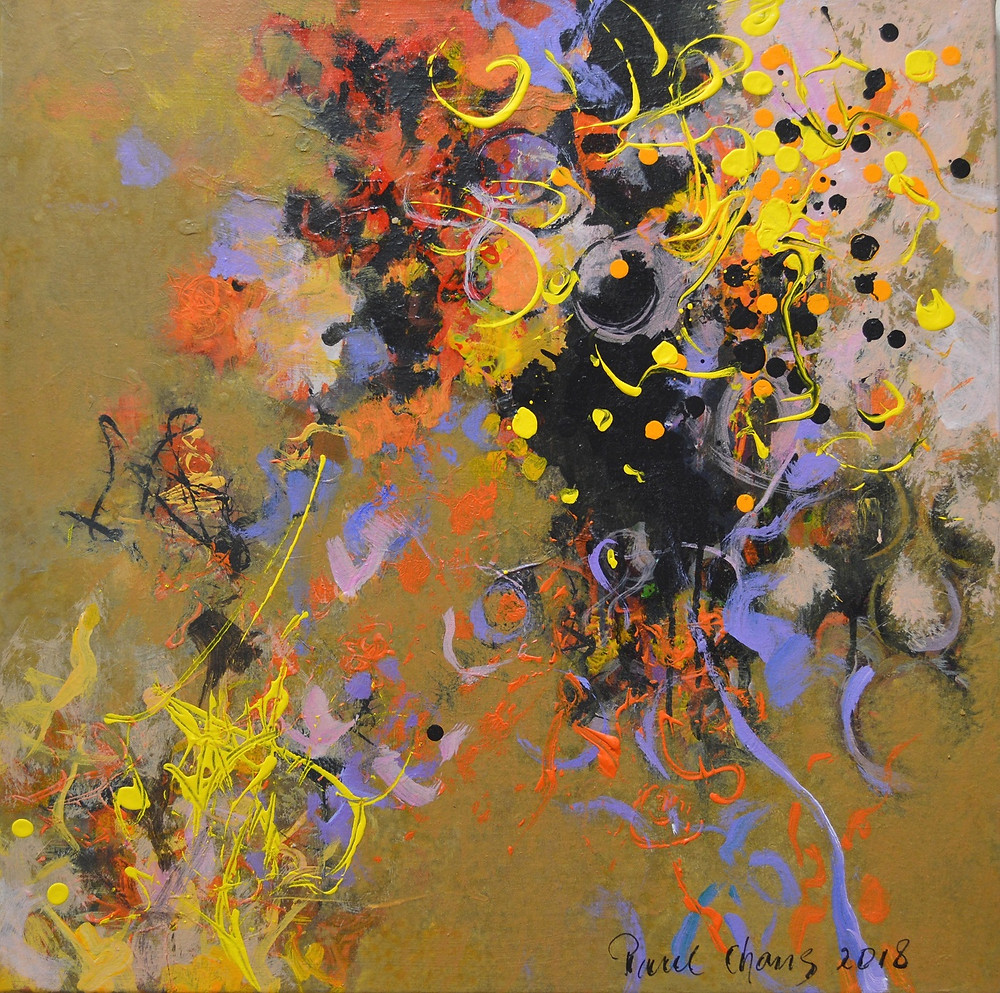 Abstract Composition in Yellow I   by artist Paul Chang