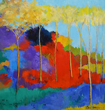 Sawgrass, abstract painting by Paul Chang
