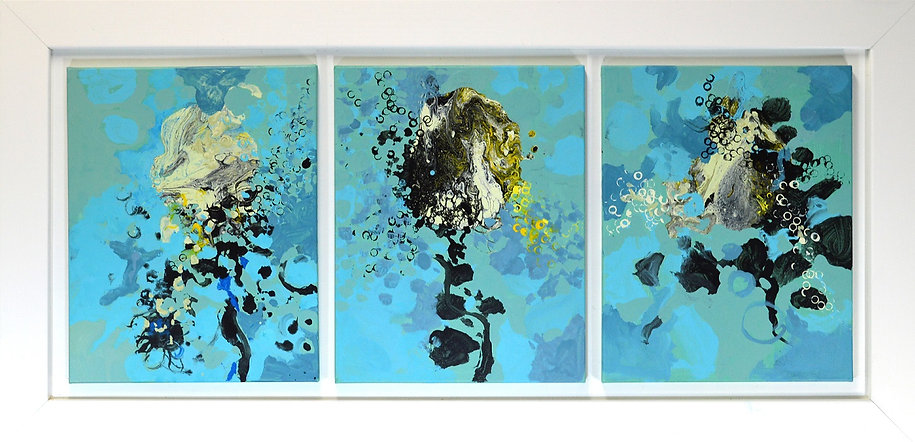 Cool April Morning triptych by artist Paul Chang