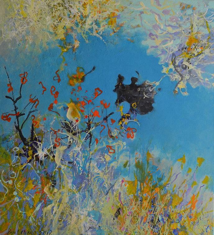 Serene Moment II | 40x36 | by artist Paul Chang