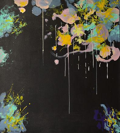 "Rhythm of the Night | Acrylic on Canvas | 2016 | 40""x36"" | by artist Paul Cang"