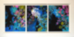 Transformation III triptych by artist Paul Chang