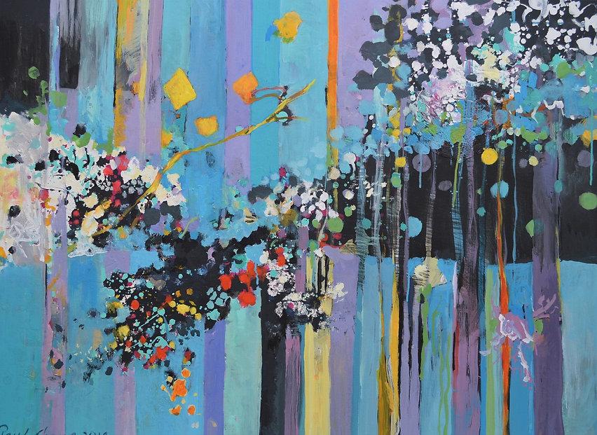 Blue Garden II | 32x48 | by artist Paul Chang