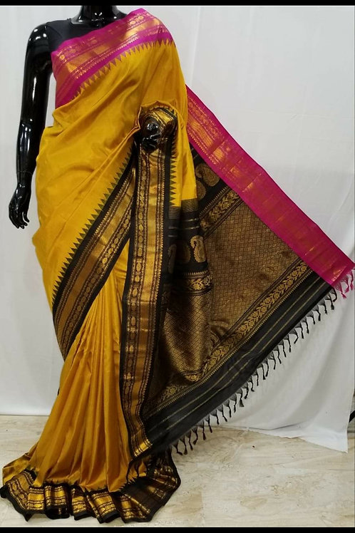 Pure Silk Gadhwal Saree