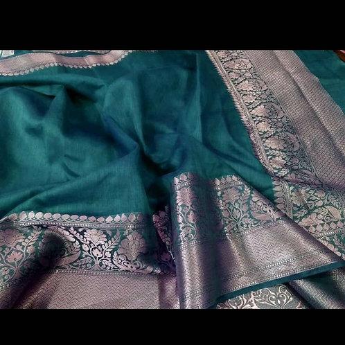 Banarsi Handloom Linen Saree