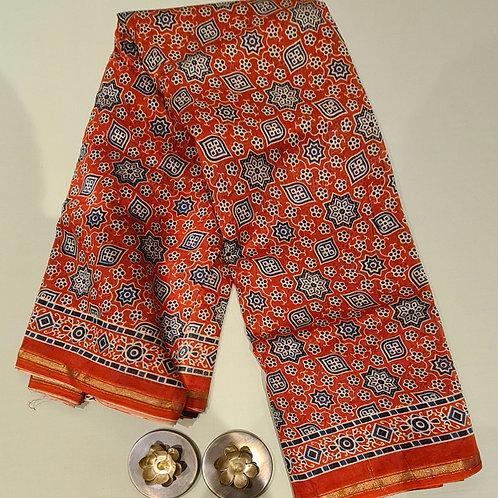Printed Chanderi Masrise  Cotton Silk Saree