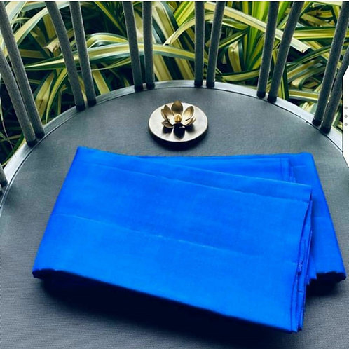 Kanjivaram Pure Silk Saree In Electric Blue Colour