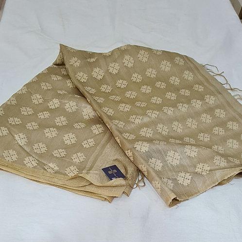 Linen Silk Saree In Beige Colour