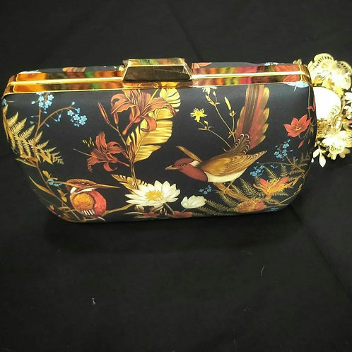 Clutch In Navy Blue Colour With A Sling