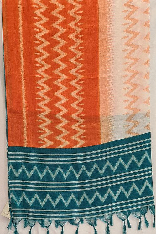 Semi Tussar Silk Dupatta In Ikkat Print