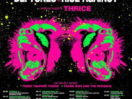 RISE AGAINST, DEFTONES & THRICE ANNOUNCE SUMMER TOUR