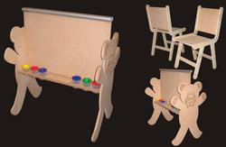 Mdf Kids Blackboard & Chairs