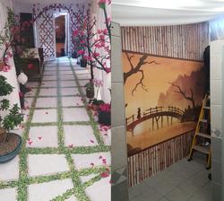 Printed Floor Graphic & Wallpaper
