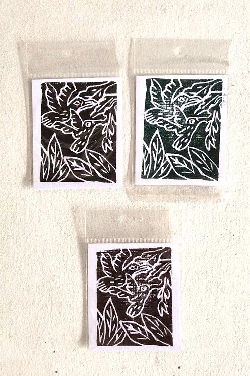Small woodcut card