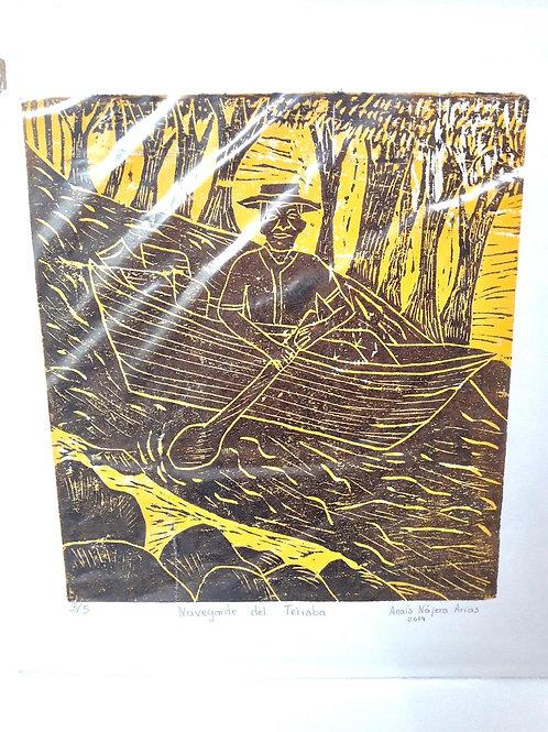 Large woodcut