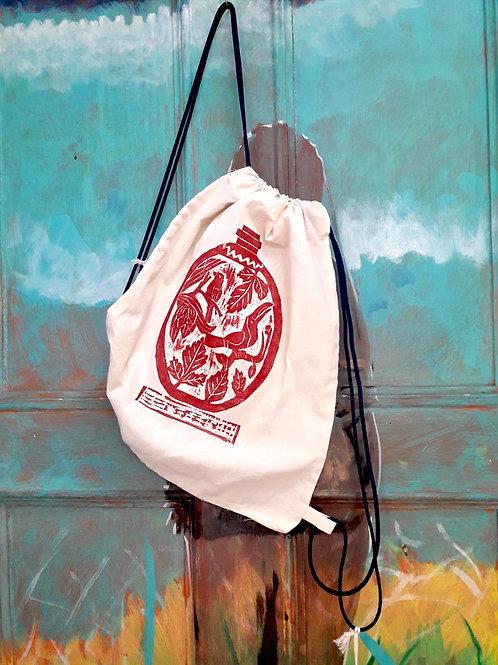 Woodcut  bag