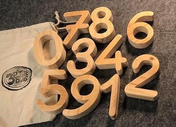 Les chiffres en bois