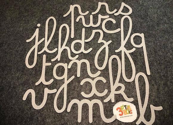 Les lettres rugueuses