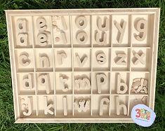 alphabet mobile script 3 P'tits Bois