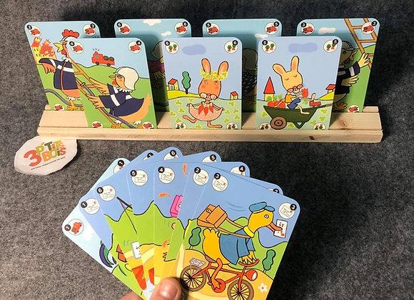 Porte-cartes en bois