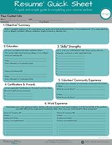 SavvyPro Freelance Resume Quick Sheet.pn