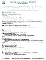 SPF - Biz Startup Super Checklist V1 pg1