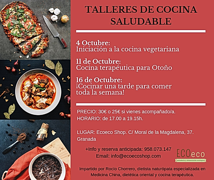 clases de cocina saludable ECOeco Octubr
