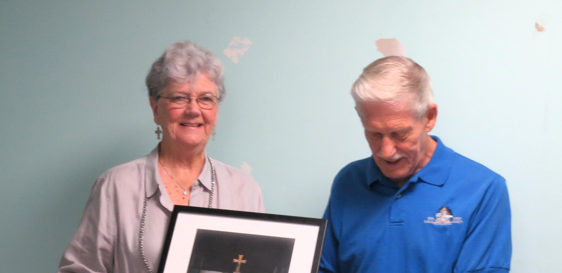 Donna H honoring Lou Rizzardi