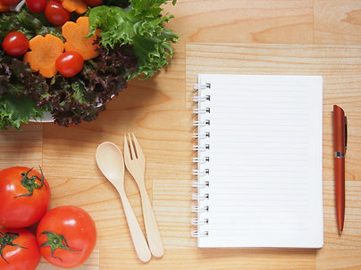 Blank spiral notebook for recipe or diet
