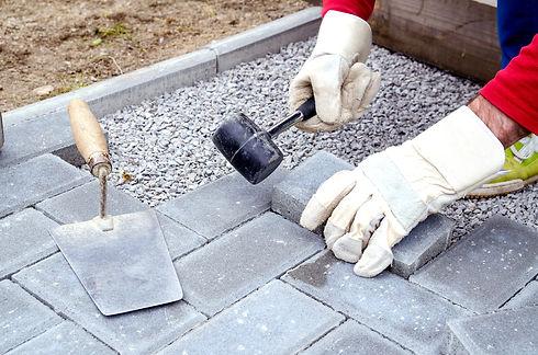 concrete paving stone blocks for buildin