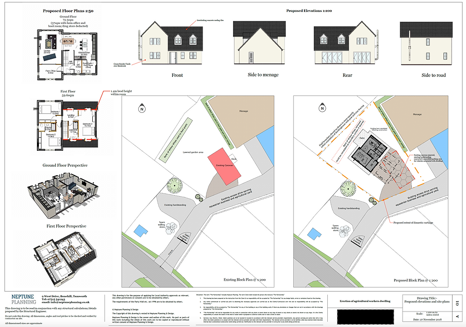 Agricultural Workers Dwelling Plans by Neptune Planning