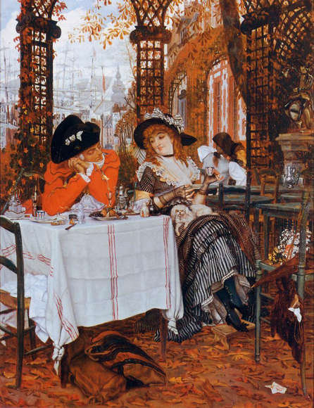 James Tissot : A Lucheon 94x120 cm