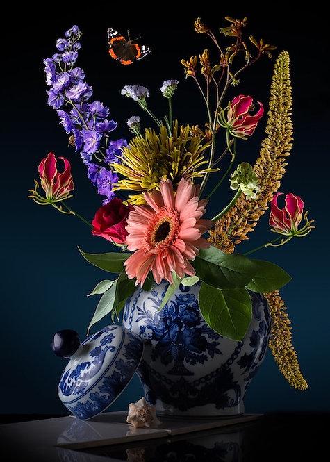 Royal Flora formaat 80x110-dibond met Modern Art kaderlijst afwerking
