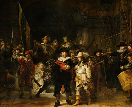 Rembrandt : De Nachtwacht 98x120 cm