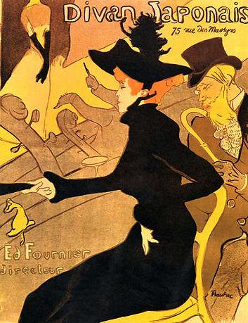 Henri de Toulouse Lautrec : Divan Japonais