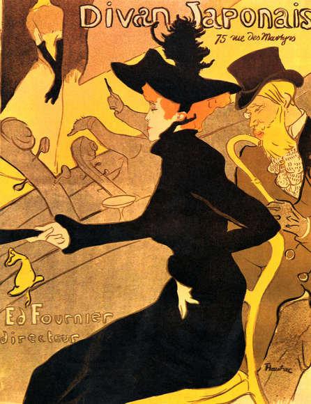 Henri de Toulouse Lautrec : Divan Japonais 91x120 cm