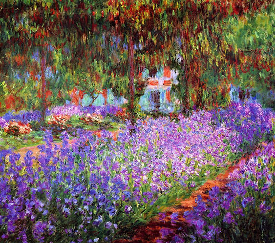 Claude Monet : The artists garden at Giverny 120x108 cm