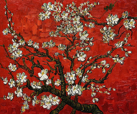 Vincent van Gogh : Bloeiende Amandelboom 120x100 cm