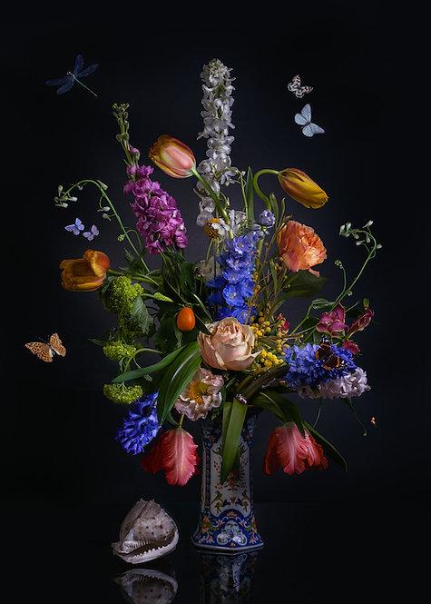 Dutch Love formaat 80x110-dibond met Modern Art kaderlijst afwerking