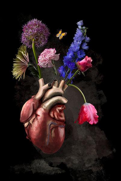 Royal hartbeat formaat 78x120cm - Diasec afwerking