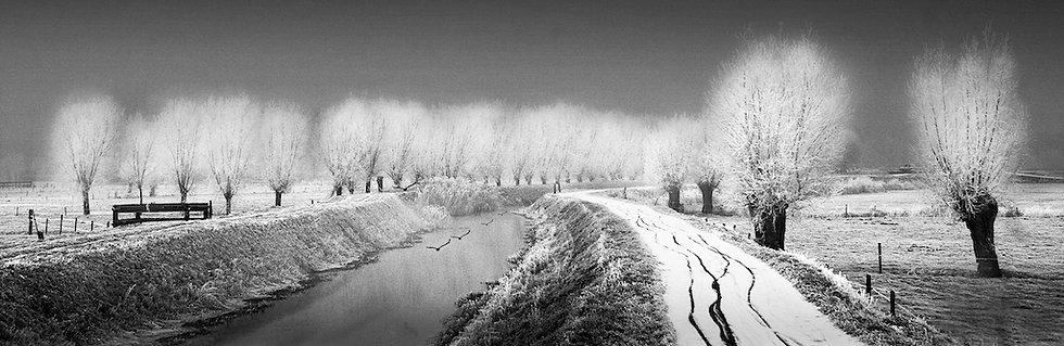 49x150 cm Winterlandschap