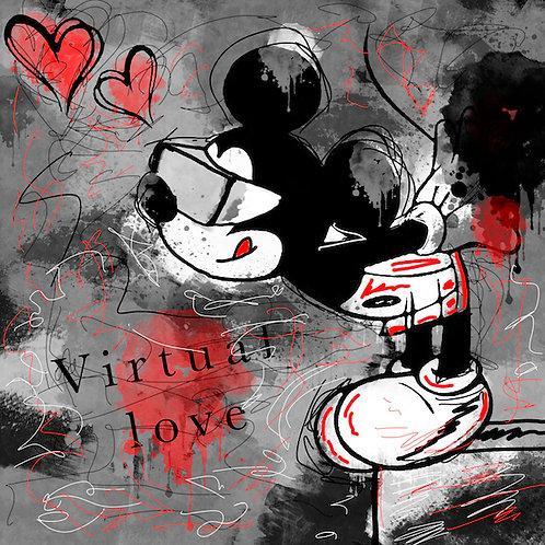 Mickey Love formaat 180x180cm - Plexibond afwerking